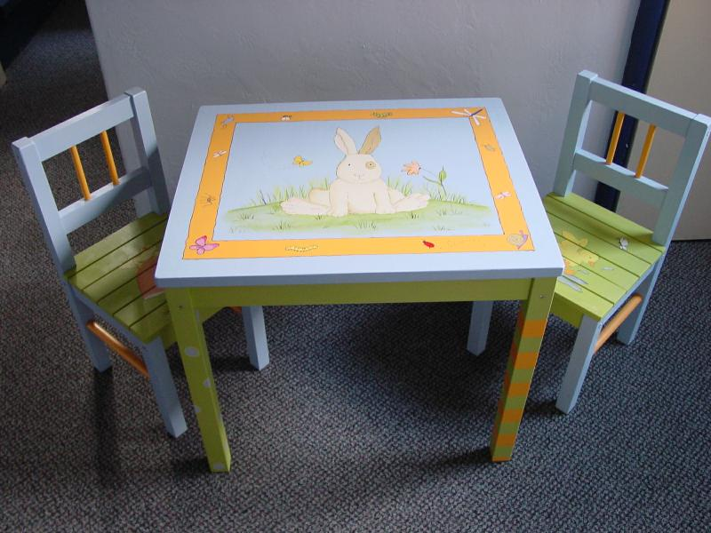 Hand Painted Kids Tables and Chairs